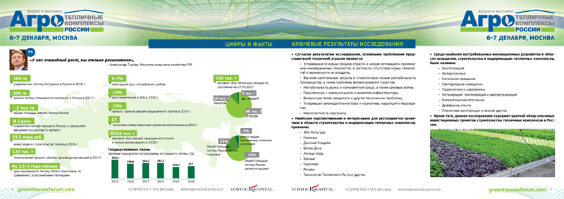 The report on Russian greenhouse sector research 2017 - Vostock Capital